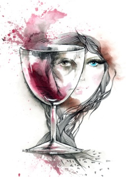 painting of alcohol abuse women